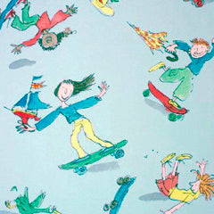 Osborne & Little Childrens Wallpaper - Skateboarders W6064-02
