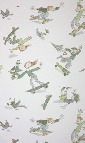 Osborne & Little Wallpaper, Kids, Skateboarders