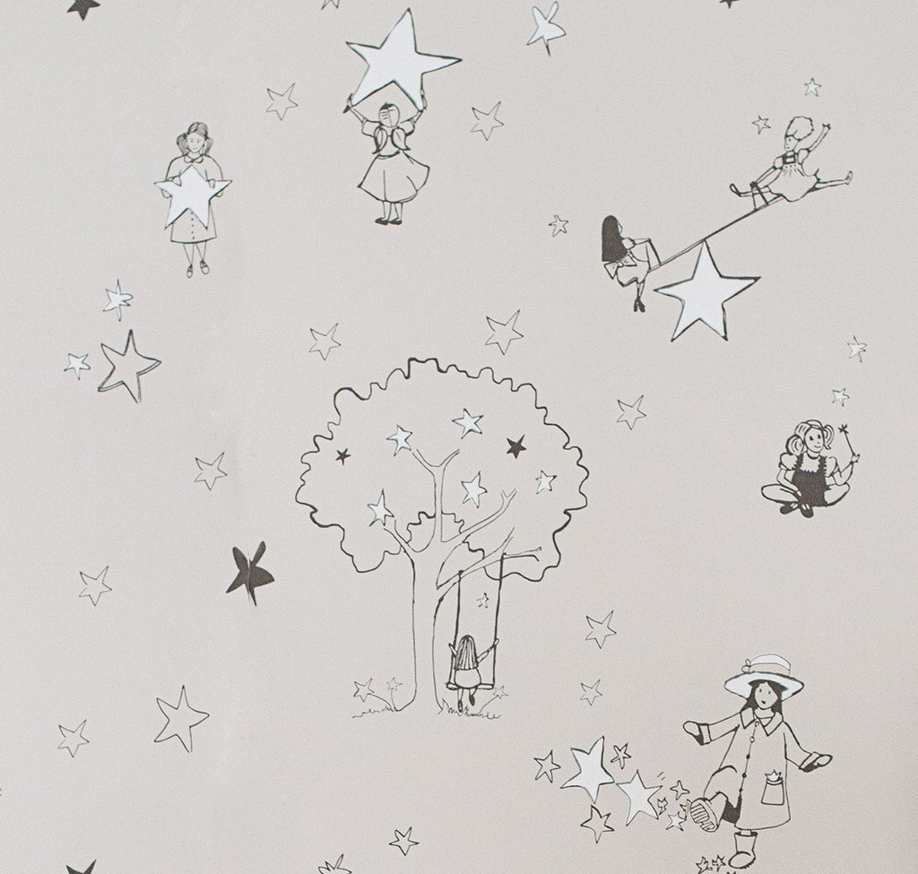 Nursery Wallpaper. Catch A Star by Katie Bourne Interiors. Buy online for Just Kids Wallpaper