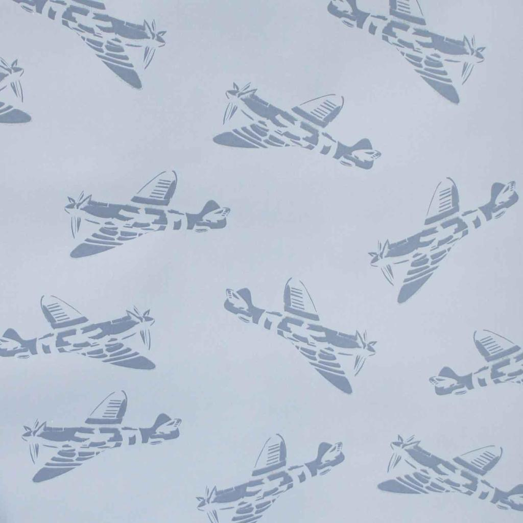 PaperBoy Spitfires' Blue kids wallpaper