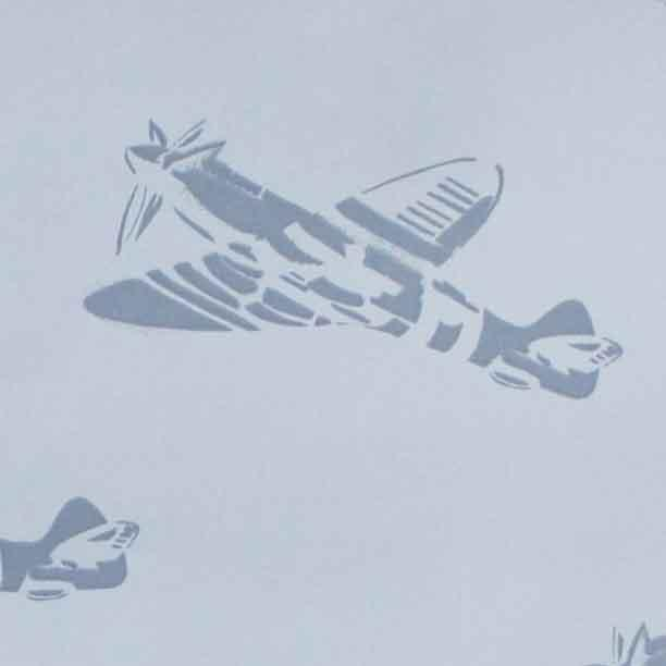 PaperBoy Spitfires' Blue wallpaper