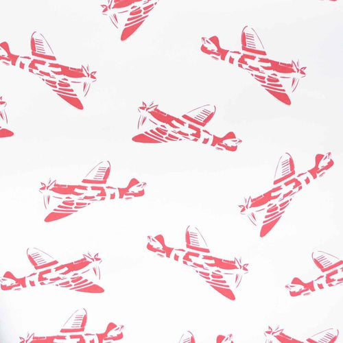 PaperBoy 'Spitfires' Red wallpaper