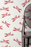 PaperBoy Wallpaper | Spitfires | Red