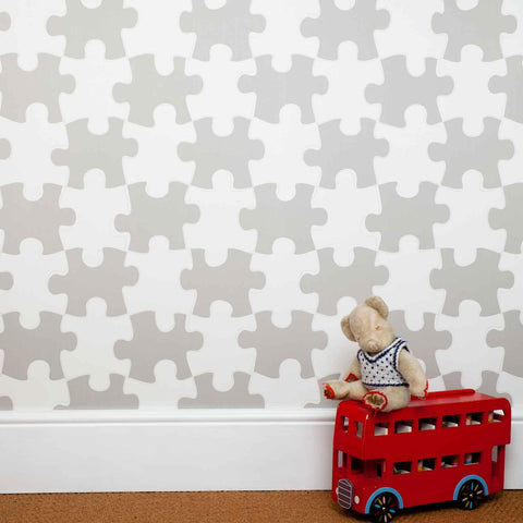 Onszelf Kids Wallpaper Panel | OZ3109 White Washed Doors