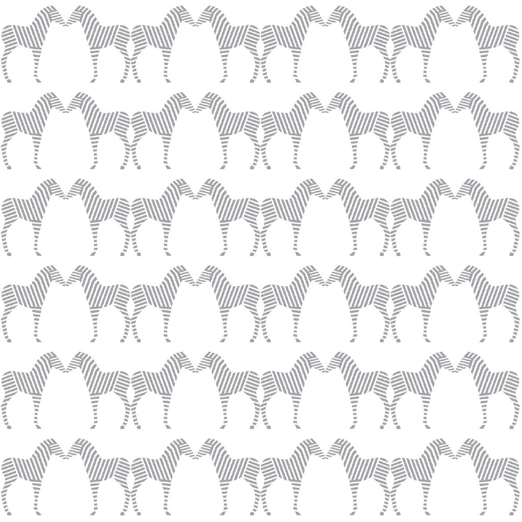 Zee in Silver | Sissy & Marley Childrens Wallpaper