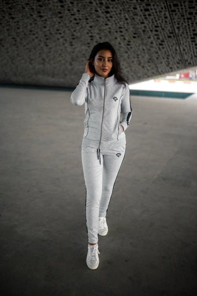 Light GREY PIPED SUIT