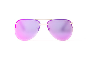ATHENA Mirrored Purple Aviator