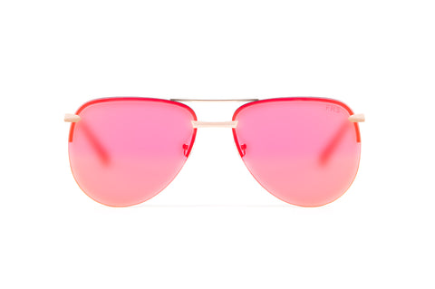 ATHENA Mirrored Red/Orange Aviator