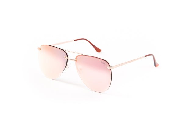 ATHENA Mirrored Pink Aviator
