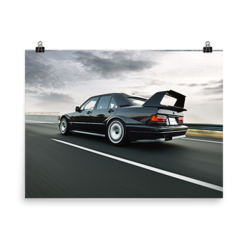 190E EVOLUTION II ROLLING REAR - POSTER