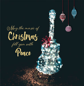 "Cover Image for ""Guitar"" Christmas Giving Card"