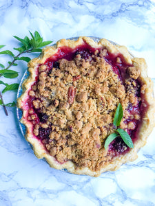 Blackberry Mint Pie