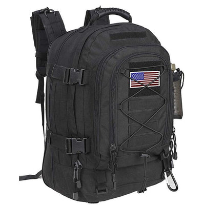 Backpack with Flag Patch Expandable Travel Backpack School Backpack Work Backpack for men