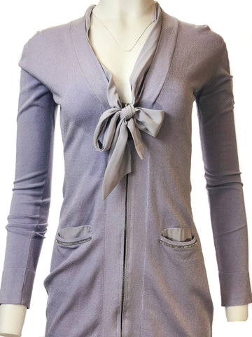 Knit Cardigan with Ribbon