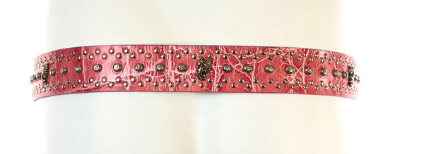 Animal Print Belt with Crystals