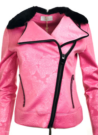 Short Club Jacket w/ Fur Collar