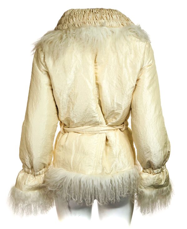 Down jacket w/ fur