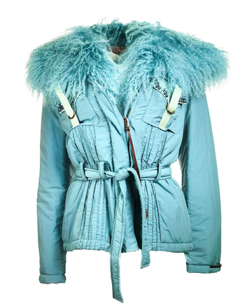 Jacket w/ Detachable fur collar
