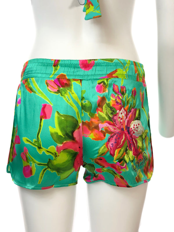 Floral Beach Silk Shorts