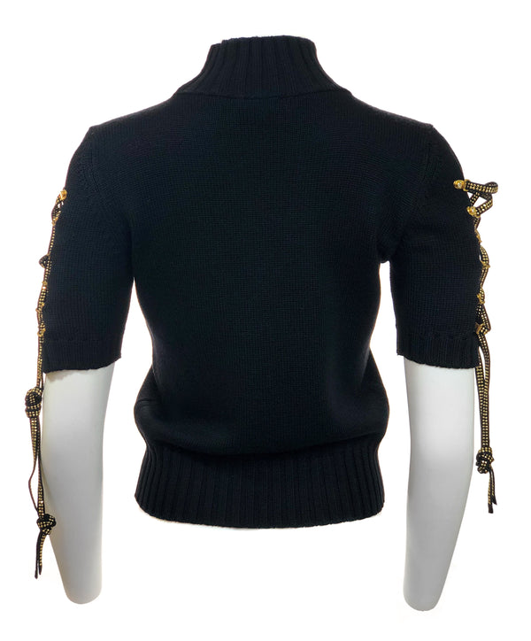 Sweaters w/ Studded Laced Sleeves