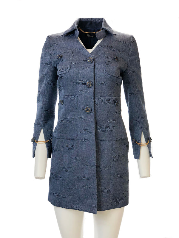 Couture Denim Trench Coat