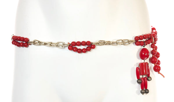 Chained Belt with Beads