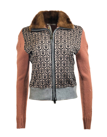 Club Felpa Cardigan w/ Fur Collar