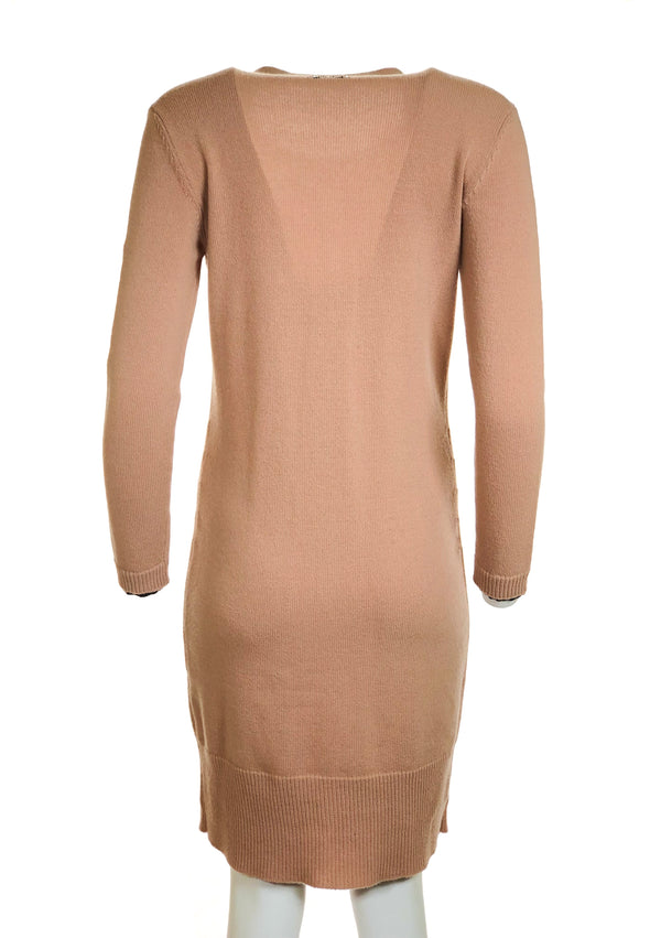 Two-Toned Cashmere Dress w/ Stones