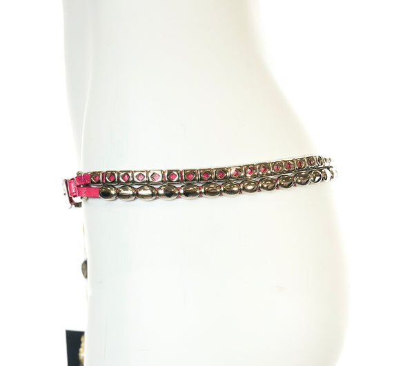Animal Print Belt with Studs