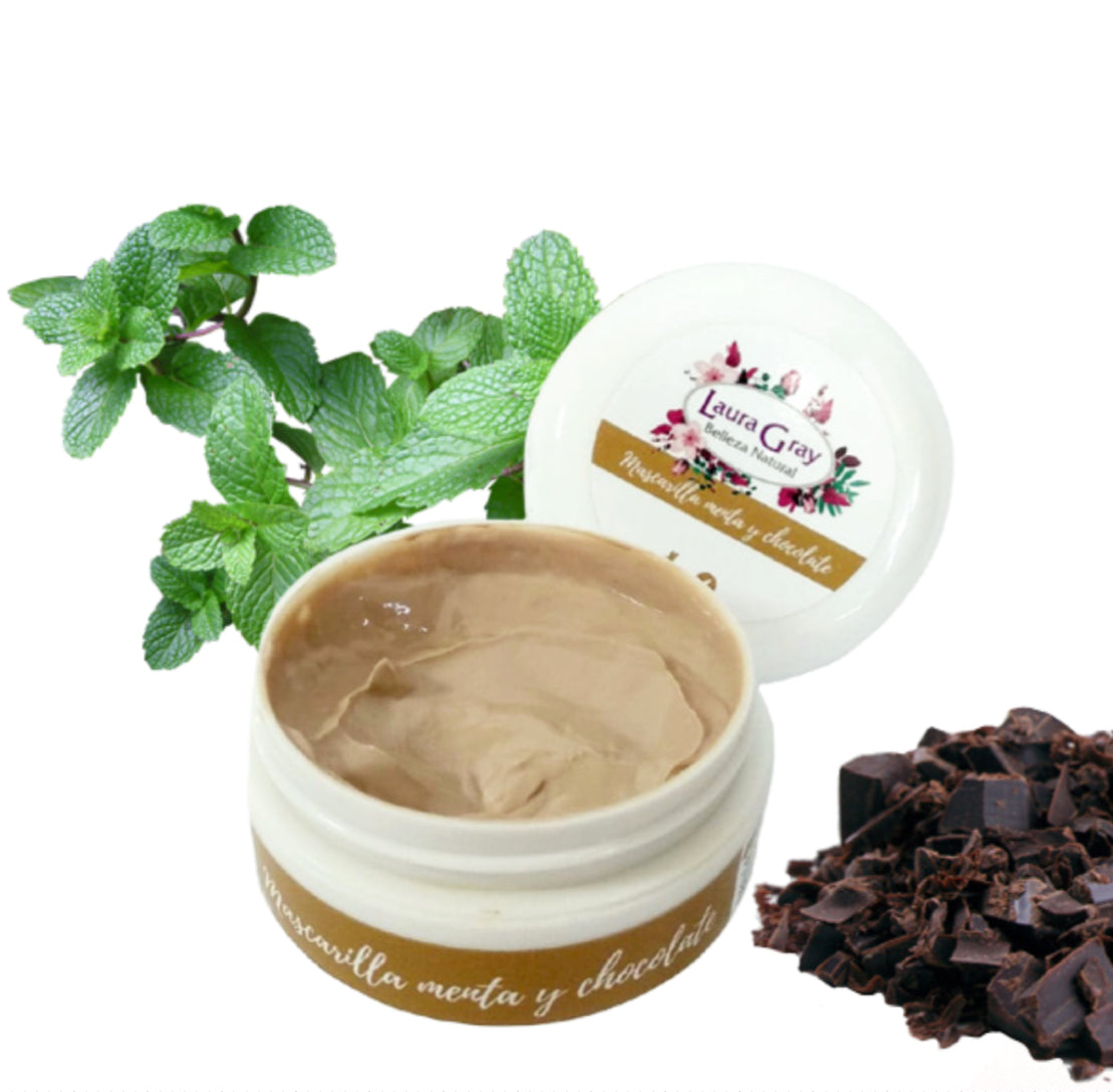 Mascarilla facial de menta y chocolate