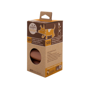 Rollo de bolsas biodegradables Happy doggy para heces de mascota