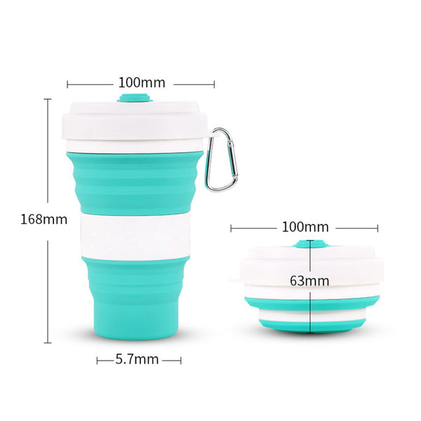 Vaso plegable de silicona de 550 ml