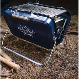 Foldable and Portable Grill with Coal Tray