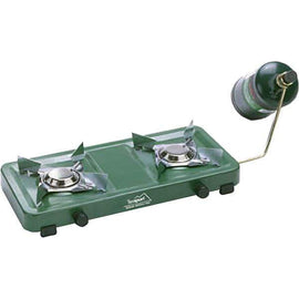 Texsport Dual Burner Propane Stove Uses 16.4oz OR 14.1oz