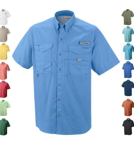 Men's Columbia PFG Bonehead Vented Fishing Shirt Short Sleeve