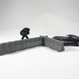 Interlocking Jersey Barrier for Tabletop Games 28mm - 32mm