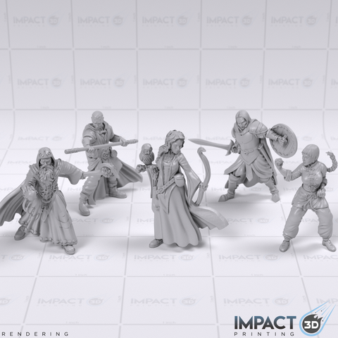 Fantasy Miniature Collection - Vol 2 - D&D/Pathfinder Scale