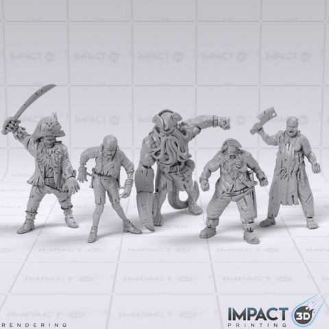 Zombie Pirates Miniature Collection - D&D/Pathfinder Scale