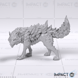 Elemental Wolves - D&D/Pathfinder Scale