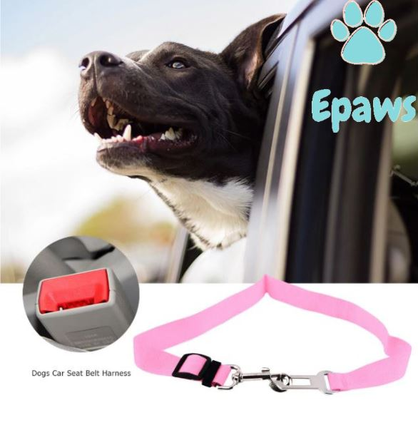Epaws Dog Car Seatbelt - Epaws dog seat belt dog seat belt harness dog seat belt leash dog seat belt tether 	seatbelt for dogs pink dog seat belt tether pet seat belt