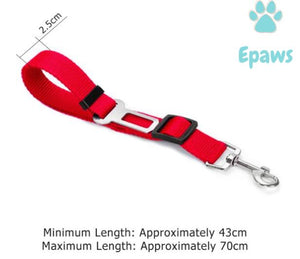 Epaws Dog Car Seatbelt - Epaws dog seat belt dog seat belt harness dog seat belt leash dog seat belt tether 	seatbelt for dogs red dog seat belt tether pet seat belt