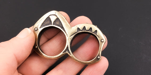Double Brass Knuckle Ring