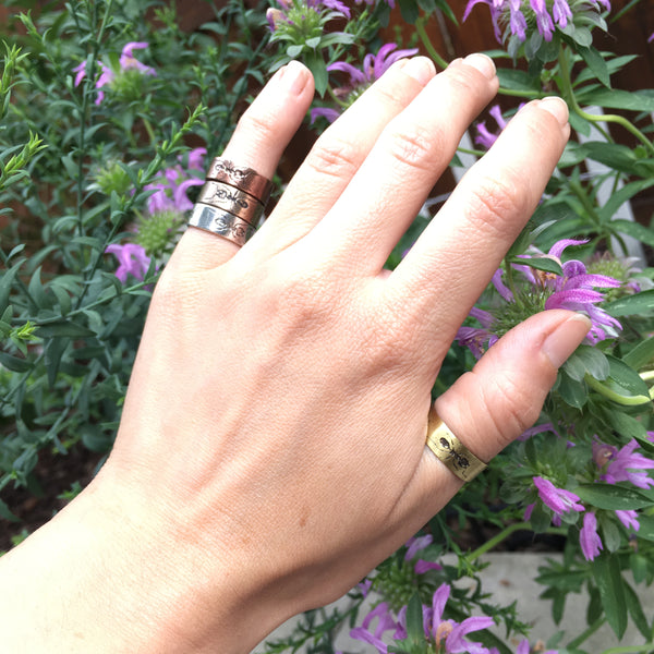 Handmade Sterling Silver Eternity Ant Insect Band Ring