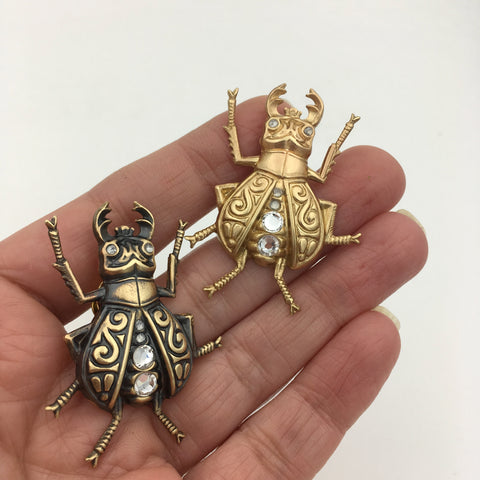 Stag Beetle Insect Pin or Brooch