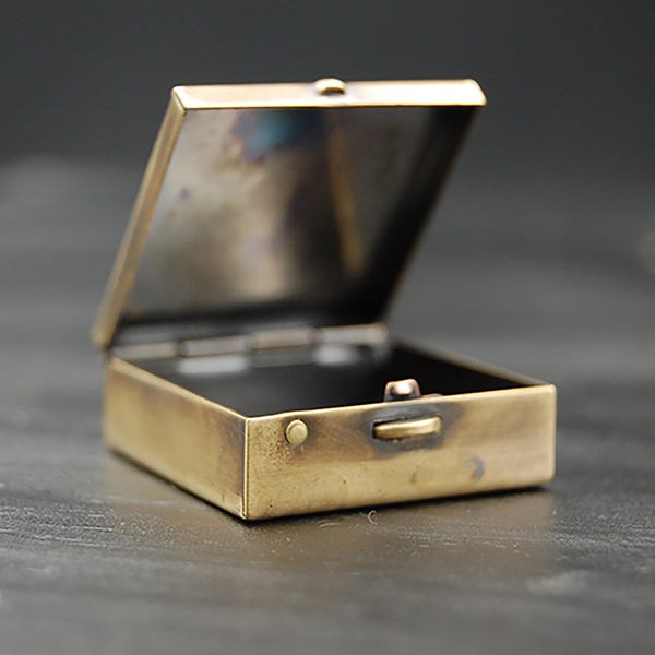 Brass Animal Pill Box with Your Choice of Owl, Cat, Fox, Rat or Bats!