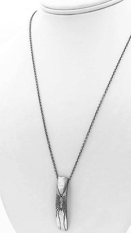 Sterling Silver Centipede Insect Necklace