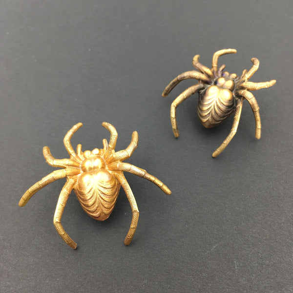 Brass Spider Pin or Brooch