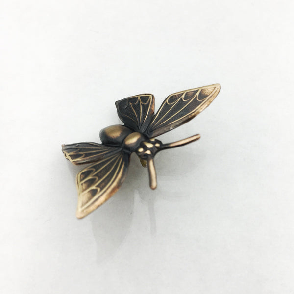 Brass Butterfly Insect Pin or Brooch