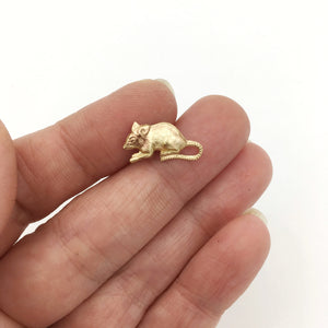 Rat or Mouse Lapel Pin Tie Tack or Brooch