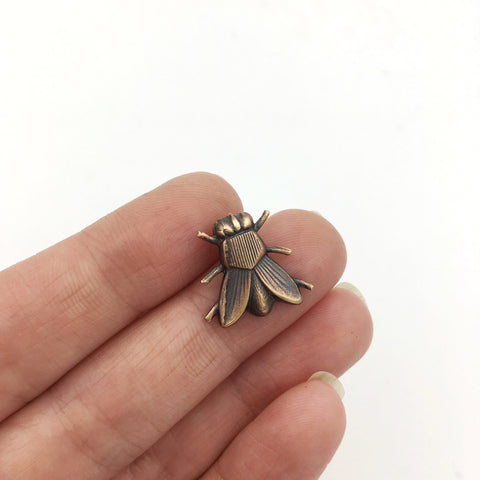 Art Deco Style Brass Fly Insect Pin or Brooch